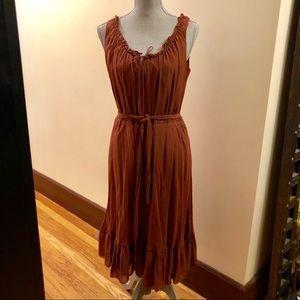 Banana Republic sleeveless maxi dress silk cotton